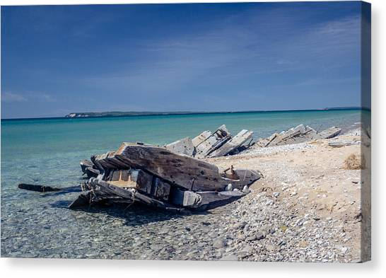 Shipwreak Canvas Print by Donna Sparks