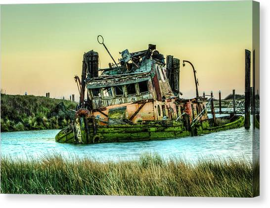 Shipwreck - Mary D. Hume Canvas Print