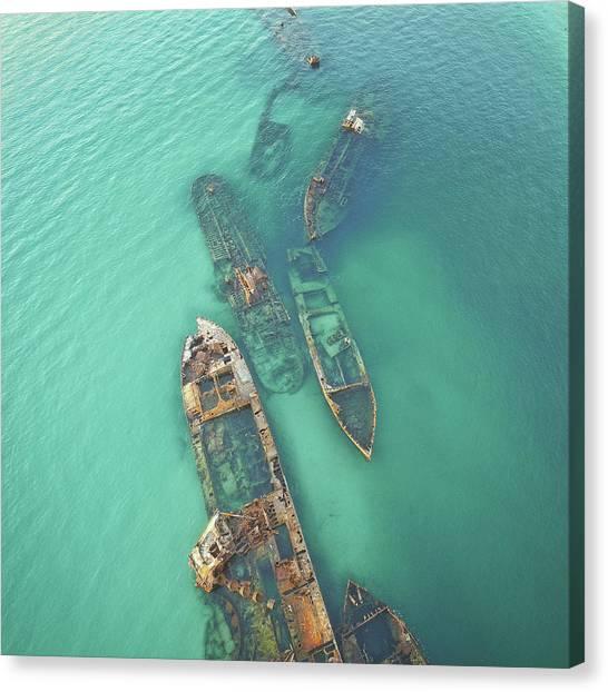 Shipwrecks Canvas Print