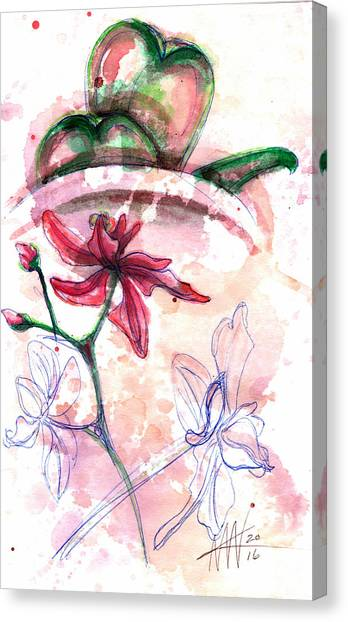 Shiraz Orchid II Canvas Print