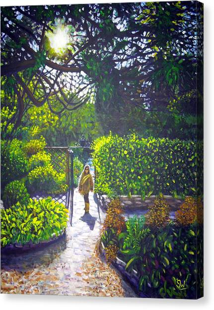 Shirley At Chalice Well Canvas Print