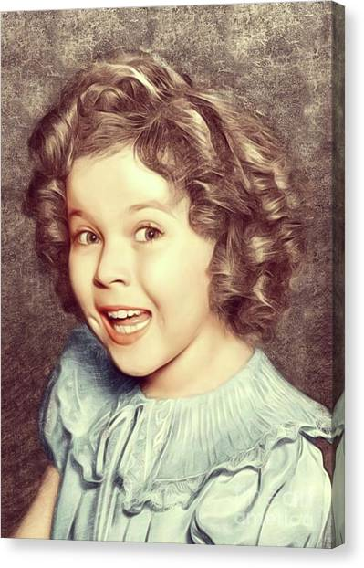 Shirley Temple Canvas Print - Shirley Temple, Actress by Mary Bassett