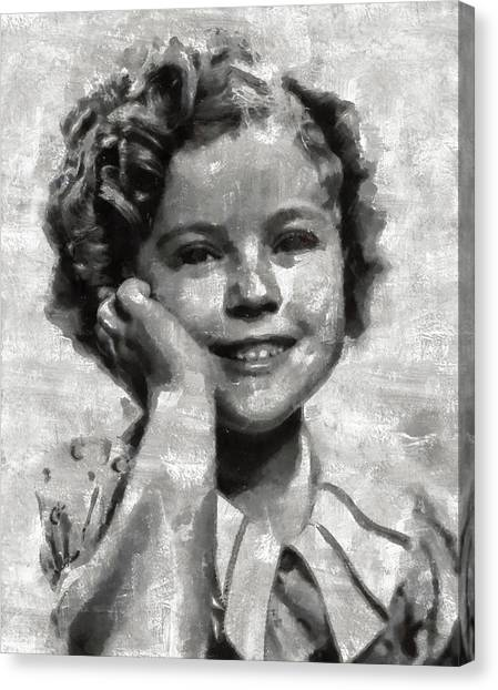 Shirley Temple Canvas Print - Shirley Temple By Mary Bassett by Mary Bassett