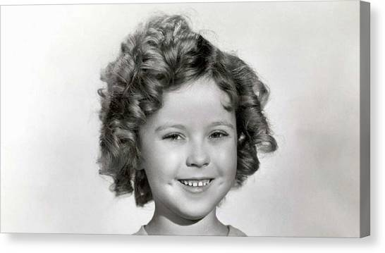 Shirley Temple Canvas Print - Shirley Temple by Mariel Mcmeeking