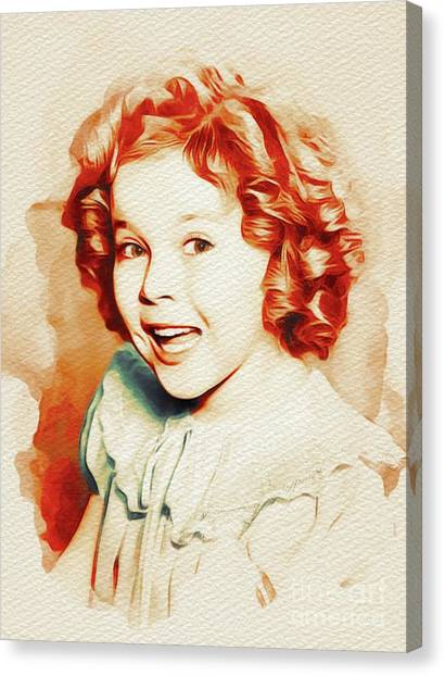 Shirley Temple Canvas Print - Shirley Temple, Movie Star by John Springfield