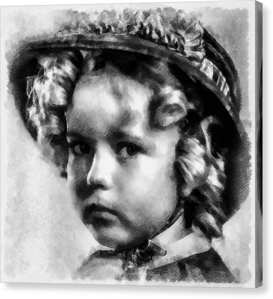 Shirley Temple Canvas Print - Shirley Temple Vintage Actress by Frank Falcon
