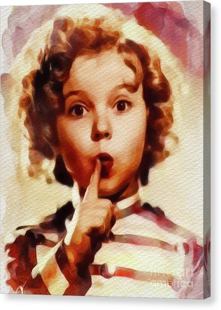 Shirley Temple Canvas Print - Shirley Temple, Vintage Movie Star by John Springfield