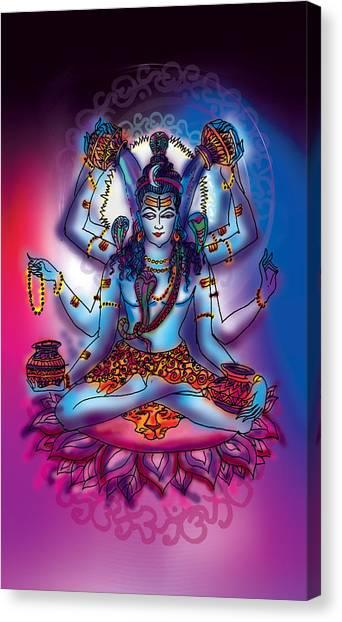 Shiva Abhishek  Canvas Print