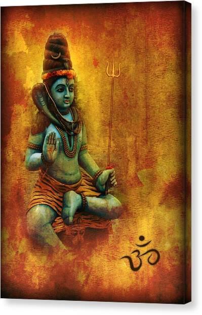Shiva Hindu God Canvas Print