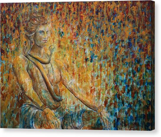 Cobras Canvas Print - Shiva Meditation 2 by Nik Helbig