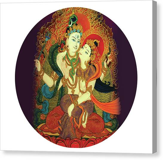 Shiva Shakti Canvas Print