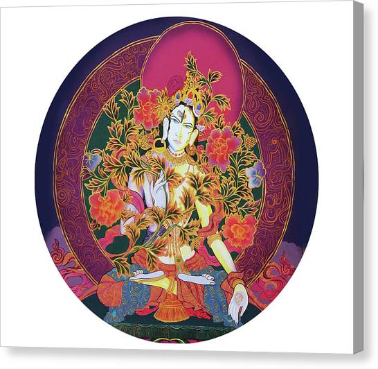 Shiva Shakti Yin And Yang Canvas Print