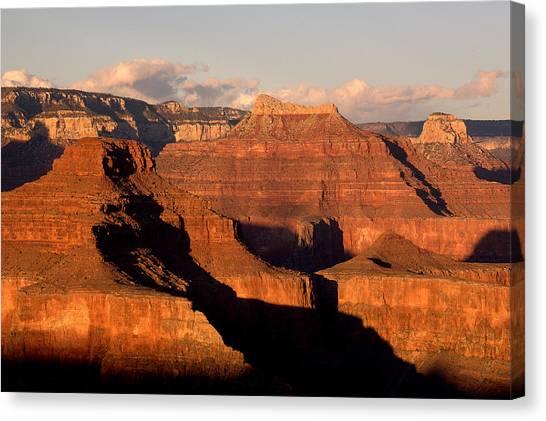 Shiva Temple  At Sunset Grand Canyon National Park Canvas Print