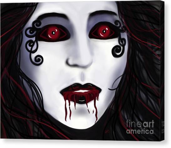 Shock At First Bite Canvas Print