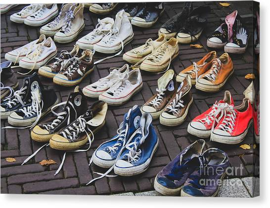 Shoes At A Flea Market Canvas Print