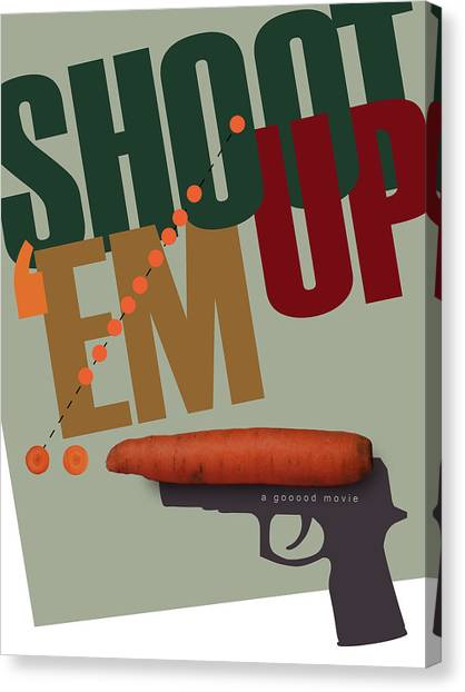 Shoot 'em Up Movie Poster Canvas Print