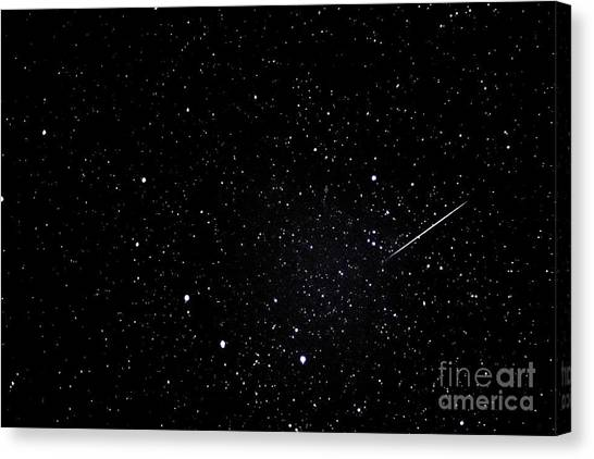 Shooting Stars Canvas Print - Shooting Star And Big Dipper by Thomas R Fletcher