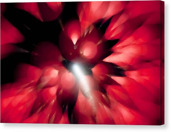 Shooting Star In Red K861 Canvas Print by Yoshiki Nakamura