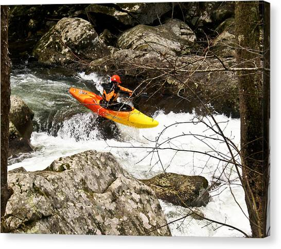Shooting The Rapids Canvas Print