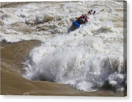 Lava Canvas Print - Shooting The Rapids by Mike Buchheit