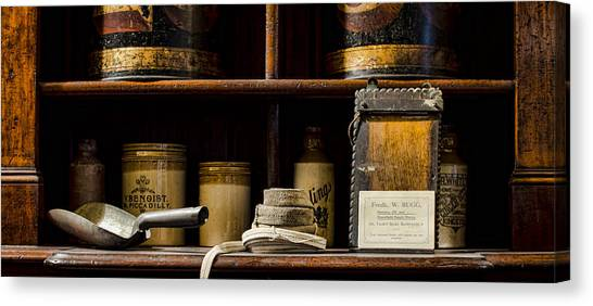 Crock Canvas Print - Shop Counter by Heather Applegate