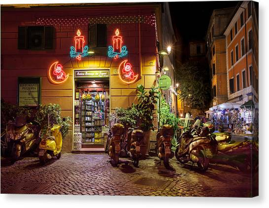 Shop In Rome Canvas Print