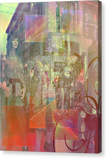 Shop-window  Canvas Print by Agnes V