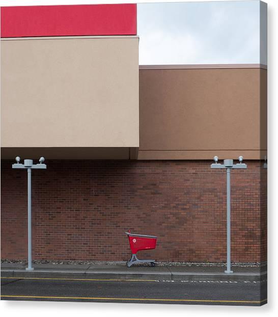 Mall Canvas Print - Shopping Cart by Klaus Lenzen