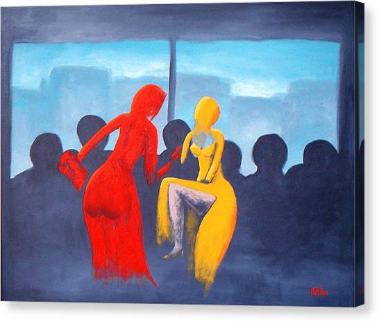 Shopping Day Canvas Print by Poul Costinsky