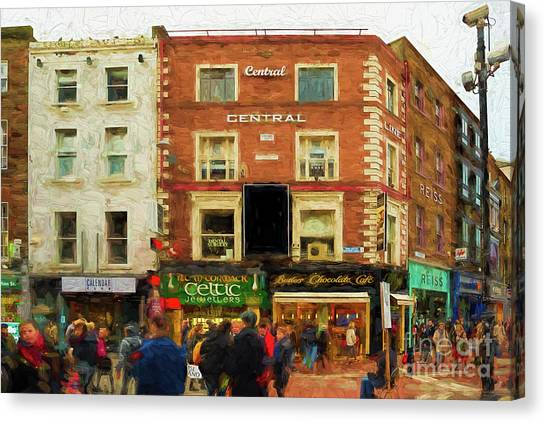 shopping on Grafton Street in Dublin Canvas Print