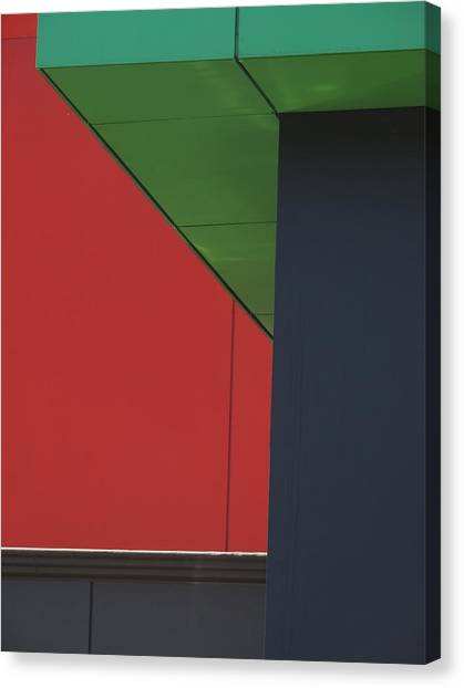 Shopping Strip Geometry Canvas Print