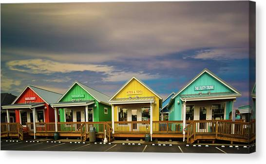 Shops Of Ocean Shores Canvas Print
