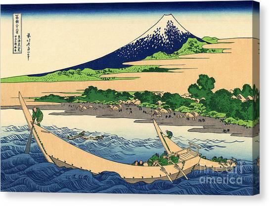 Mount Fuji Canvas Print - Shore Of Tago Bay, Ejiri At Tokaido by Hokusai
