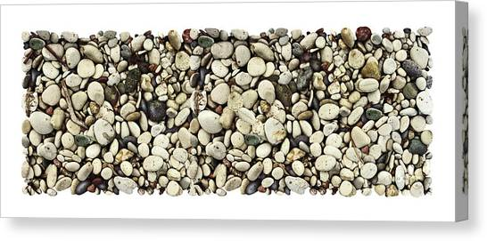 Lake Michigan Canvas Print - Shore Stones 3 by JQ Licensing
