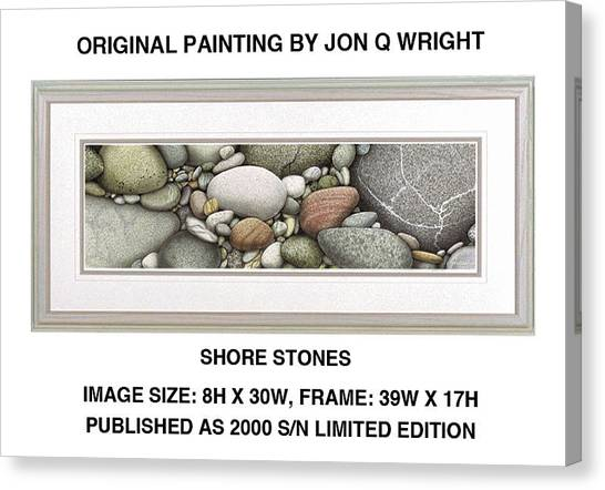 Lake Michigan Canvas Print - Shore Stones by JQ Licensing