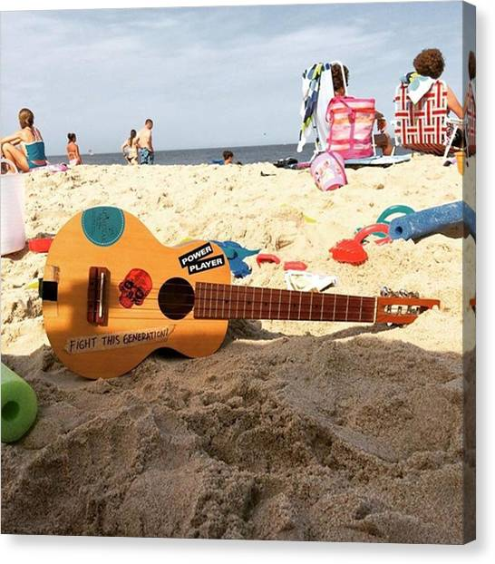 Ukuleles Canvas Print - Shore Tunes #beach #baltimoremusician by Dadi Setiadi