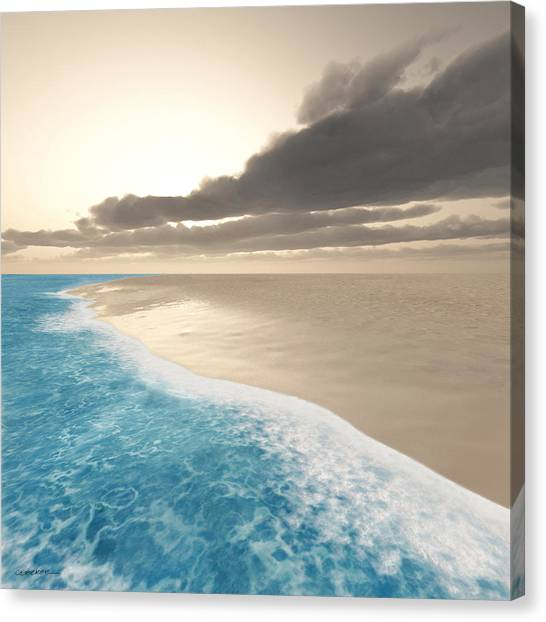 Summer Canvas Print - Shoreline by Cynthia Decker