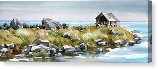 Shoreline Living Canvas Print by Art Scholz