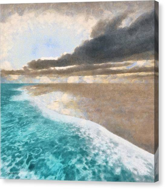 Summer Canvas Print - Shoreline Painted by Cynthia Decker