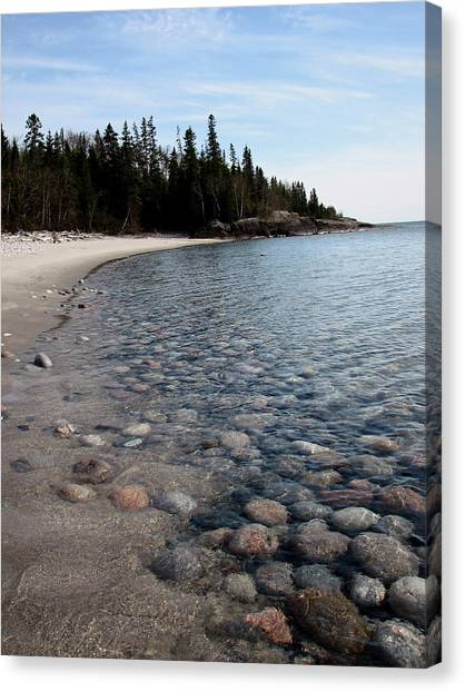 Shoreline Serenity Canvas Print by Laura Wergin Comeau