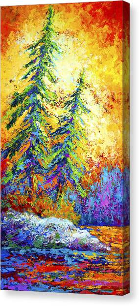 Mountain West Canvas Print - Shoreline Spirits by Marion Rose