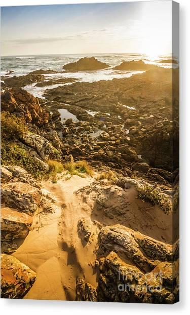 Sandy Canvas Print - Shoreline Sunshine by Jorgo Photography - Wall Art Gallery