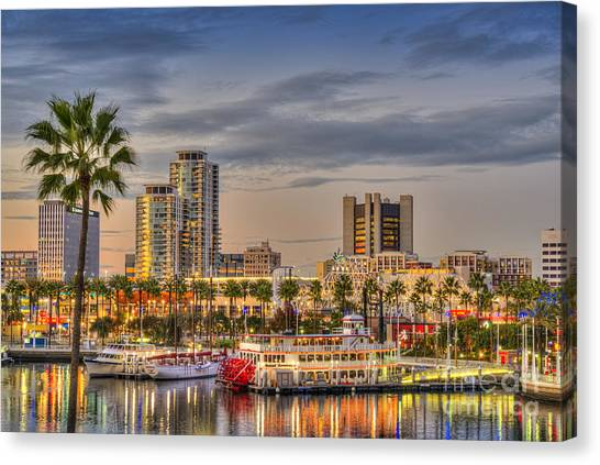 Shoreline Village Rainbow Harbor Marina Canvas Print