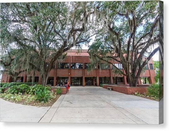 Florida State Fsu Canvas Print - Shores Building At Florida State University by Bryan Pollard