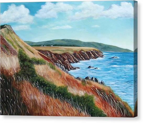 Shores Of Cape Breton Canvas Print by Sharon Steinhaus