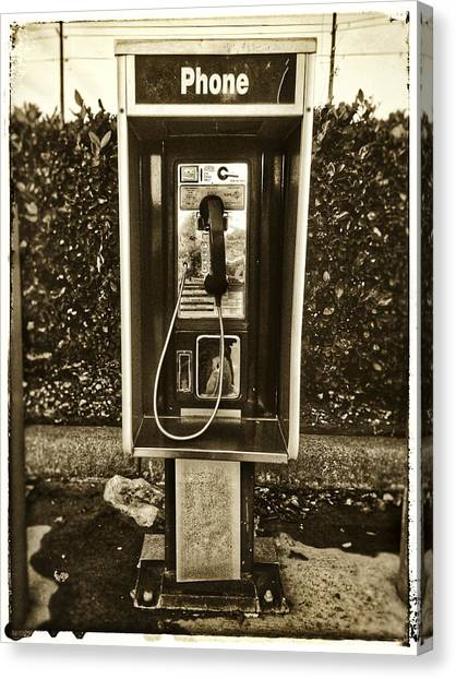 Short Stack Pay Phone Canvas Print
