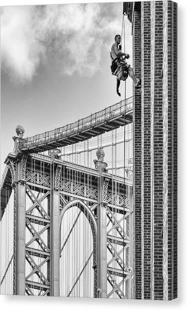 Manhattan Canvas Print - Shortcut To Brooklyn by Michel Guyot