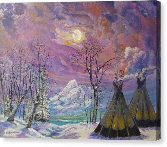Shoshone Moon Canvas Print