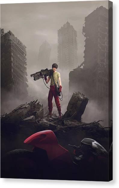 Apocalypse Canvas Print - Shotaro Kaneda by Guillem H Pongiluppi