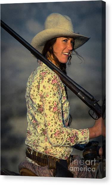 Shotgun Annie Western Art By Kaylyn Franks Canvas Print